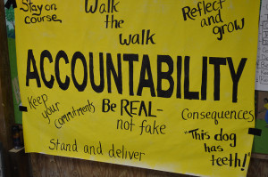 Successful entreprneurs know accountability is key.