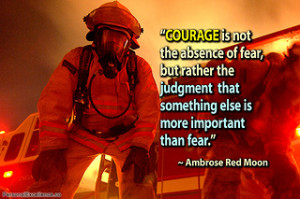 Courage can be developed.