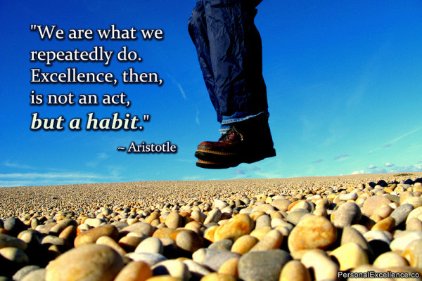 Aristotle Quote About Practice: Productivity And Success Are Built On Good Habits
